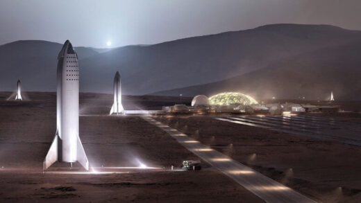 Elon Musk showed a prototype colony on Mars