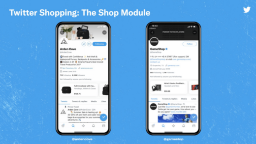 Twitter has allowed the sale of goods through a mobile application