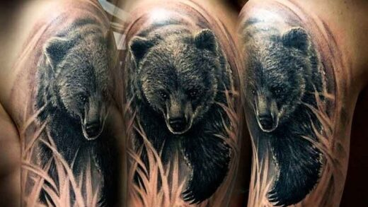 Ideas for a bear tattoo that you may imitate