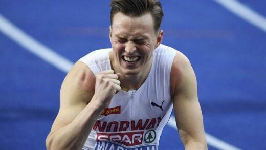 Norway's Karsten Warholm sets world record in 400m hurdles