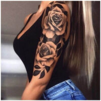 The value of a rose tattoo