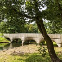 A bicycle bridge was produced on a 3D printer in the Netherlands